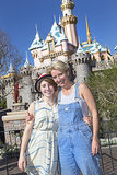 Emma Thompson took a break from award season in January 2014 to visit Disneyland with her daughter, Gaia Wise.