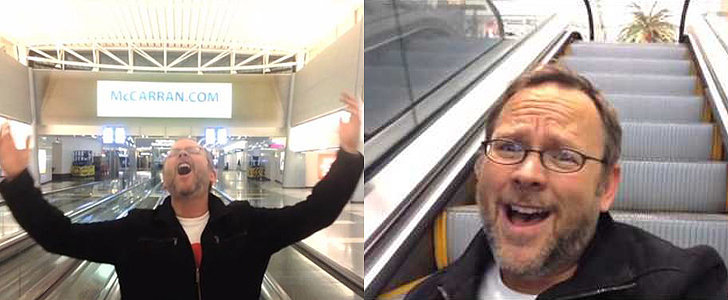 "Celine Dion Reacts to That Guy's ""All by Myself"" Airport Music Video"