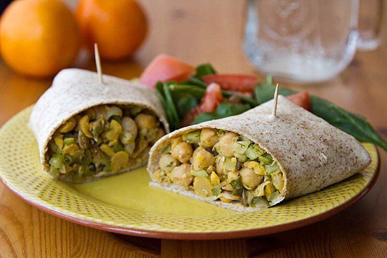 Chickpea Salad Wrap | Roll With It: 22 Healthy Wrap ...