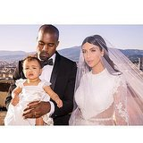 North was all dolled up at her parent's wedding in Italy in May 2014. Source: Instagram user kimkardashian