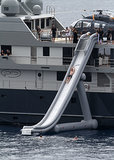 Celebrities: Shoot Down Waterslides in the Middle of the Ocean Off Their Yachts