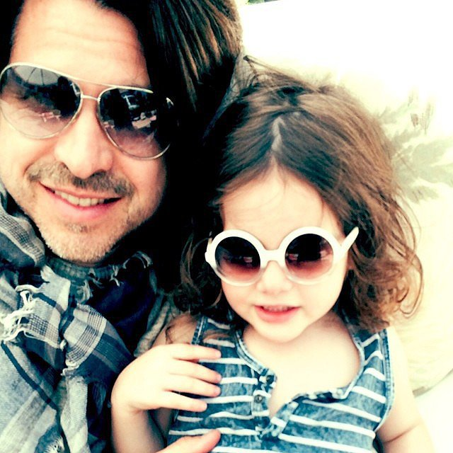 "Skyler and Roger snuggled up in this photo Rachel Zoe posted, saying, ""Happy Father's Day to the best husband and daddy my everything @rbermanus #love #liveforyou #skylermorrison #kaiusjagger."" Source: Instagram user rachelzoe"
