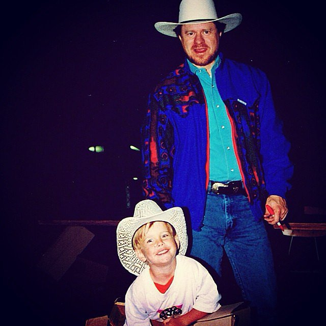 """God broke the mold when he made you,"" Chord Overstreet wrote in the caption for this snap with his dad, Paul.  Source: Instagram user chordover"