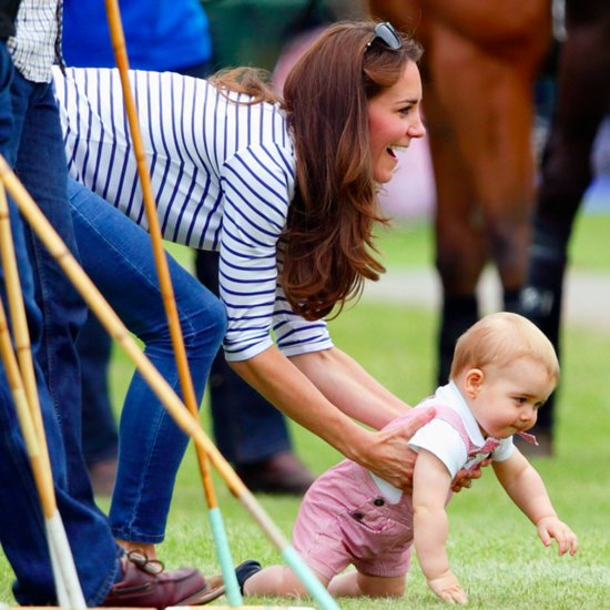 Prince George Crawling at Polo Match Pictures
