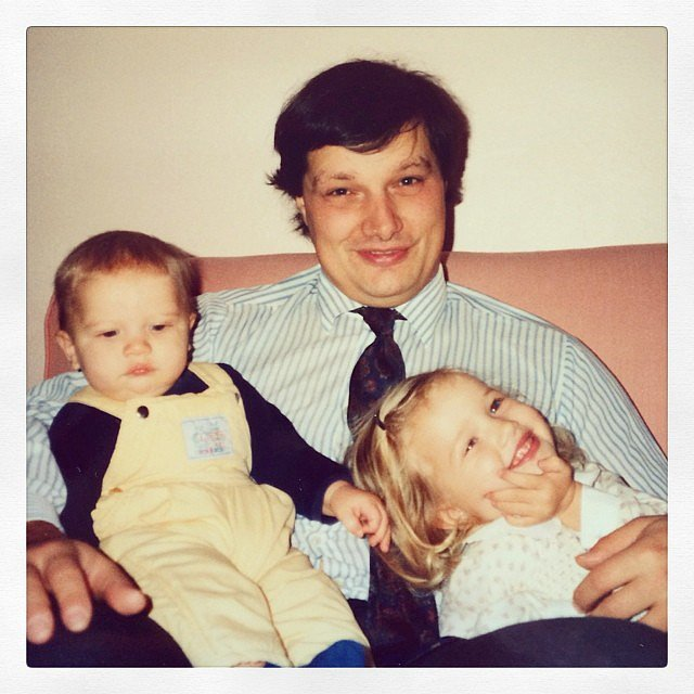 "Rosie Huntington-Whiteley said her dad is her ""first true love."" Source: Instagram user rosiehw"