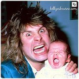 "Like father, like daughter! Ozzy and Kelly Osbourne had similar expressions when this hilarious memory was captured. ""Driving my dad nuts... Something's never change!"" she wrote in the caption.   Source: Instagram user kellyosbourne"