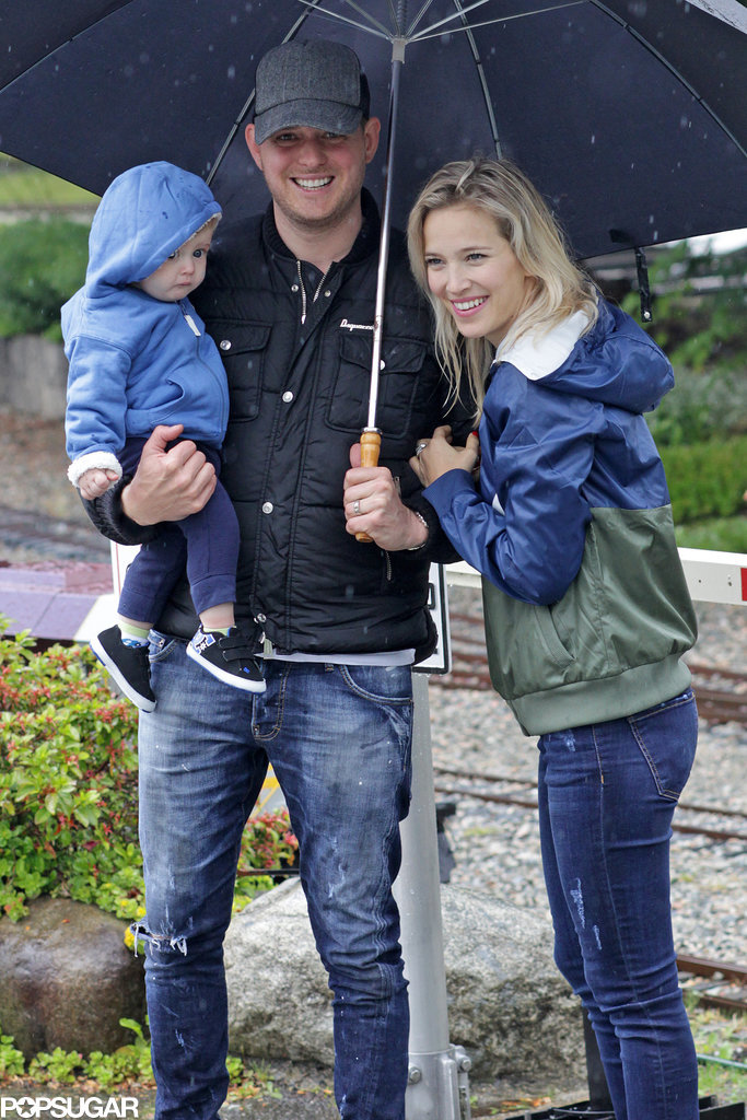 Michael Bublé Doesn't Let the Rain Ruin His First Father's Day