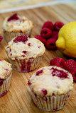 Protein Lemon-Raspberry Muffins