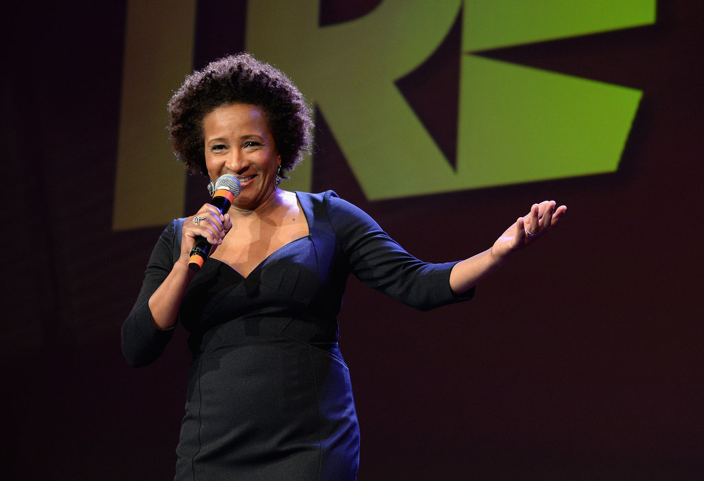 Host Wanda Sykes cracked jokes on stage.