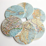 DIY: Map Coasters