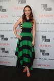 Olivia Wilde stunned in stripes at a screening of Third Person in NYC on Tuesday.