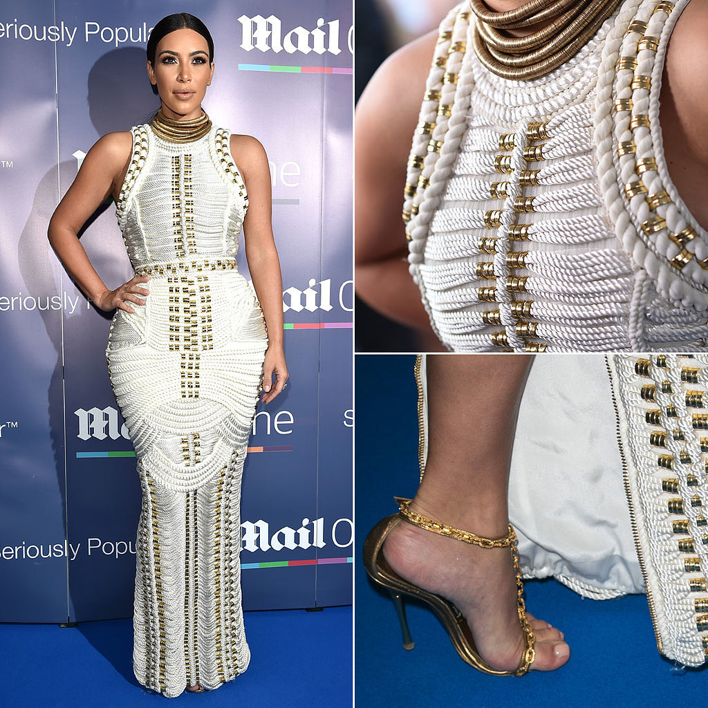 Kim Kardashian Balmain Rope Dress