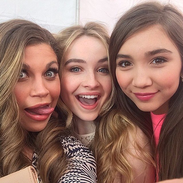 Fishel posed with her ladies. Source: Instagram user danielle_fishel