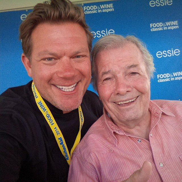 Tyler Florence Took a Selfie With Jacques Pépin
