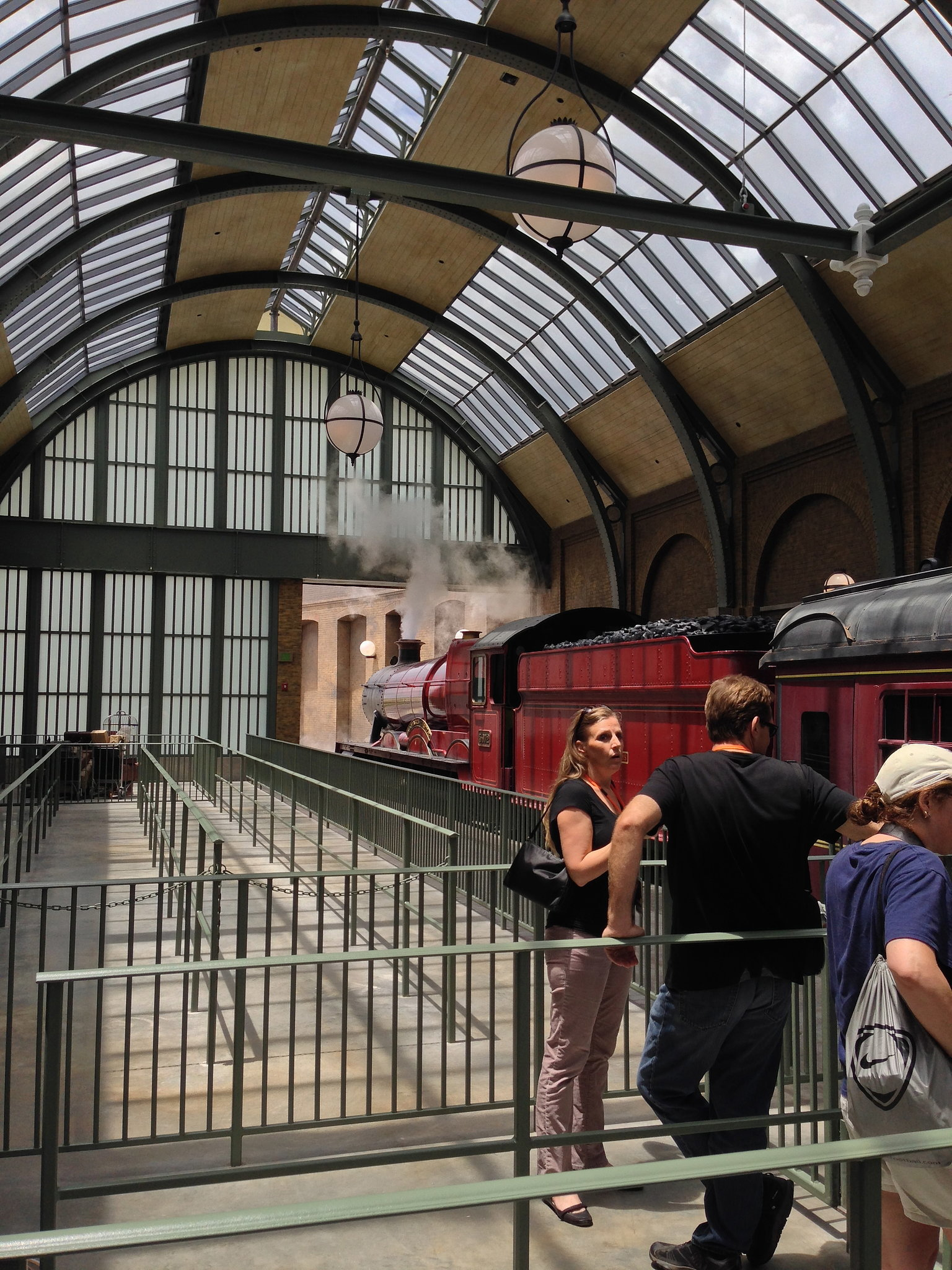 The Hogwarts Express is a real, full-size train that takes you from Diagon Alley to Hogsmeade, the original park for The Wizarding World of Harry Potter.