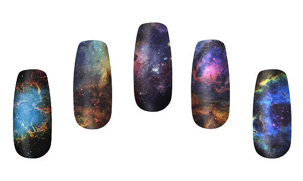 Yep, these are some of the most wondrous nebulas ever imagined in all of space and time, and here they are — right on your fingers ($10 for 14)!