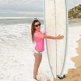 Lea went surfing in Mexico in June.  Source: Instagram user msleamichele