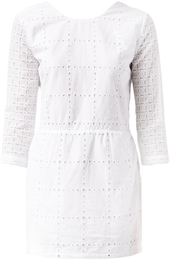 Roseanna Long-Sleeved Eyelet Dress