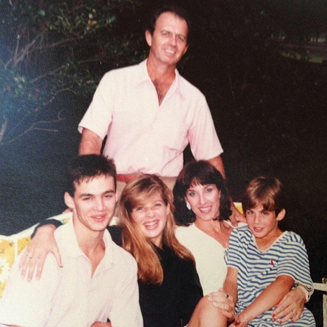 Ian Somerhalder posted the cutest throwback photo. Yes, he's the one in the stripes. Source: Instagram user iansomerhalder