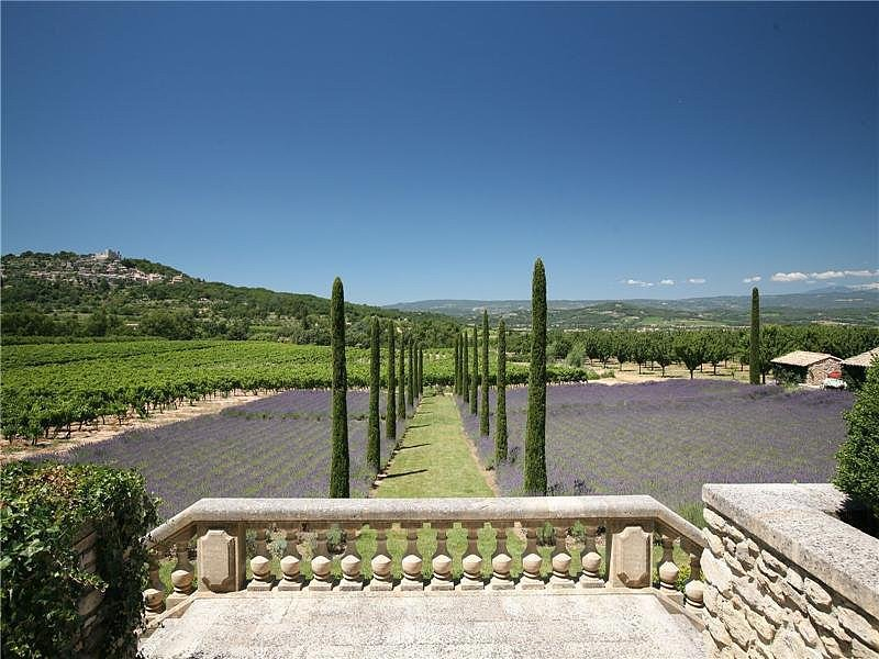 Tucked away in the hills of Provence, France, this serene escape includes views of local orchards and villages. Source: Sotheby's
