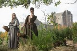 Claire and her newfound friend Geilles gather herbs. Courtesy of Starz