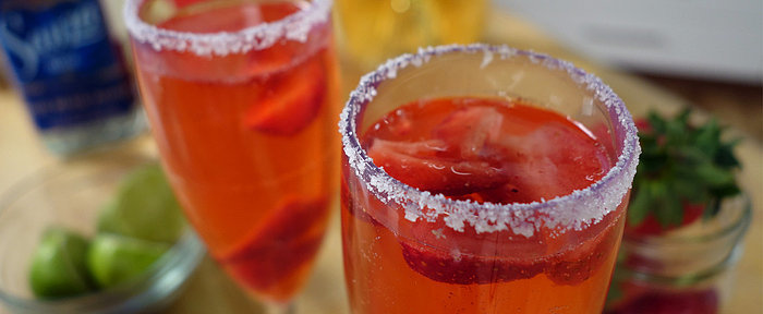 Sip Red, White, and Blue With This Sparkling Strawberry Spritzer