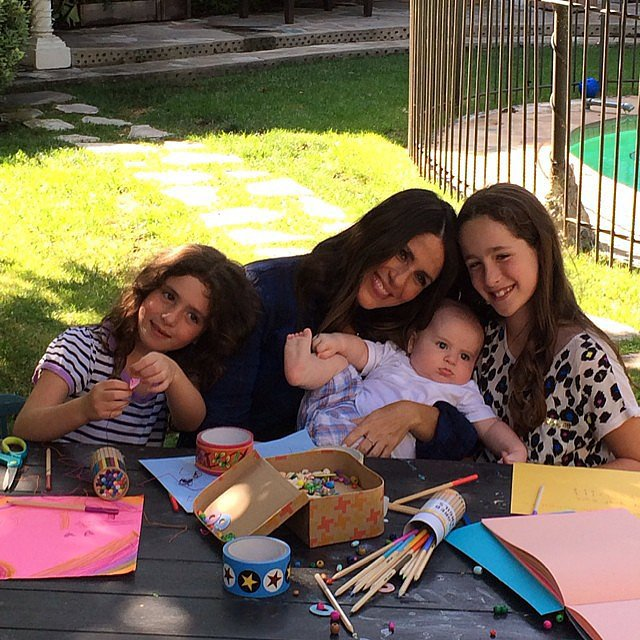 Soleil Moon Frye spent the day crafting with her kids, Poet, Jagger, and Lyric. Source: Instagram user moonfrye