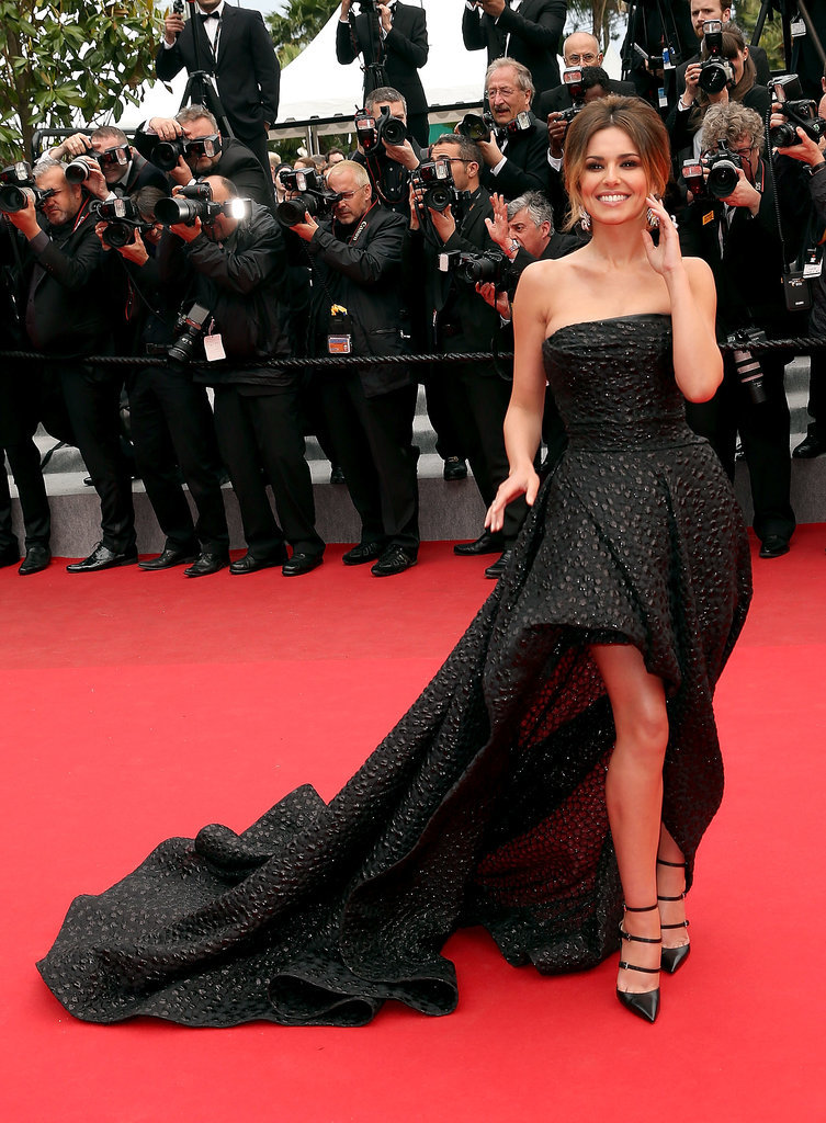 On the red carpet for the Foxcatcher premiere at the Cannes Film Festival in 2014, Cheryl wore a rise-and-fall gown by Monique Lhuillier.