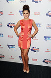 A flirty coral minidress was Cheryl's choice for the 2012 Summertime Ball.