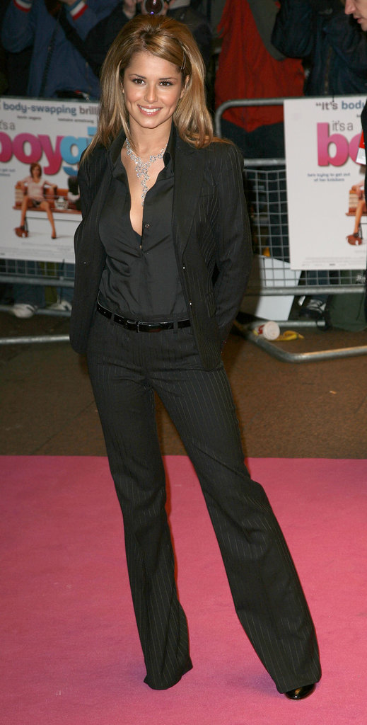 A blonde Cheryl chose a menswear-inspired look for the UK premiere of It's a Boy Girl Thing in 2006.