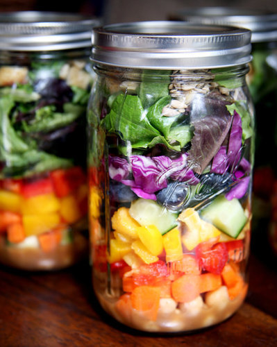 A Rainbow Layered Salad