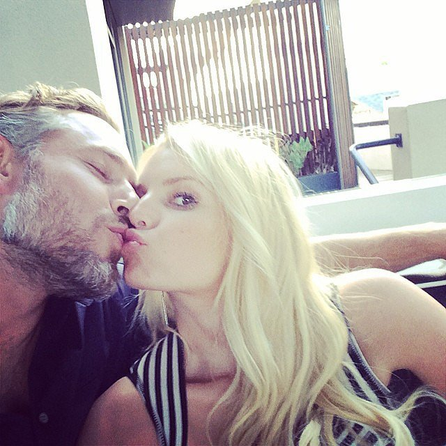 Jessica and Eric shared a sweet kissing snap on Instagram on their anniversary in May 2014. Source: Instagram user jessicasimpson
