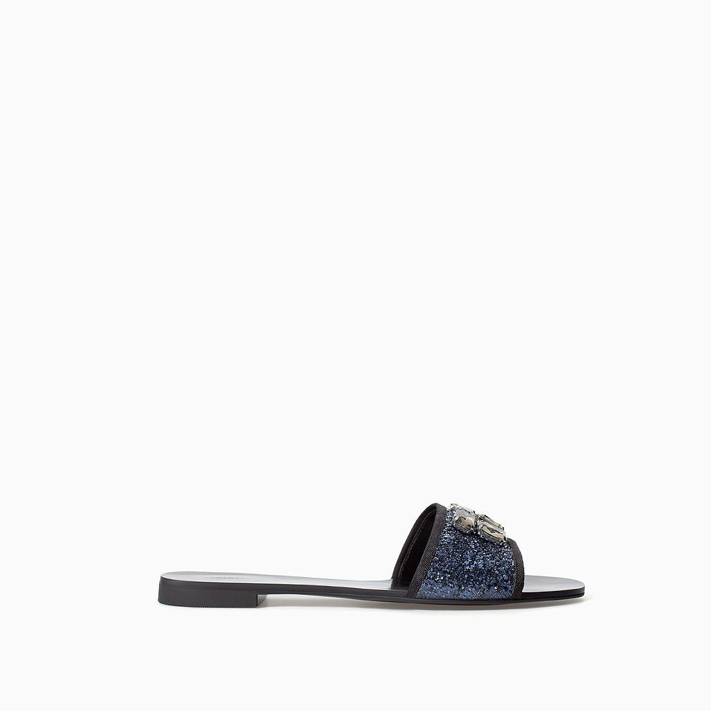 Zara Jeweled Slide Sandals