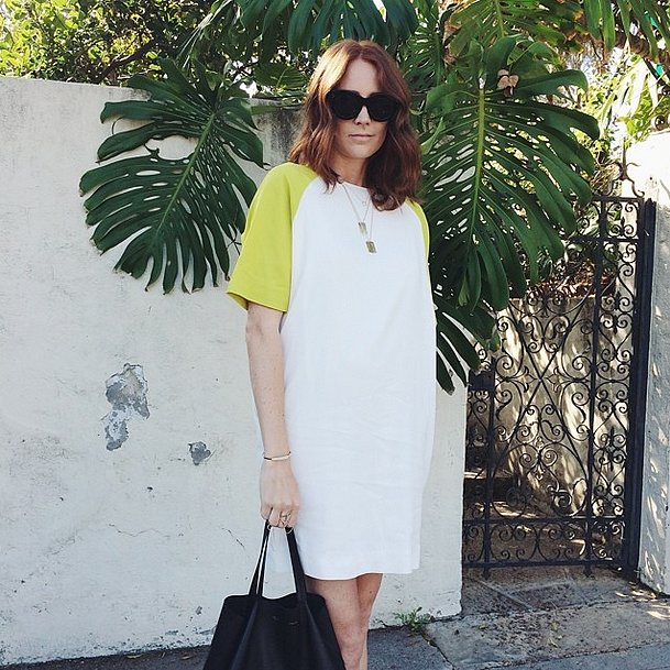 An all-in-one colorblock tunic makes it supereasy to style the rest of your look — just grab your go-to accessories. Source: Instagram user couldihavethat