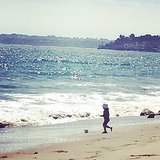 Skyler Berman got in the World Cup spirit while playing on the beach. Source: Instagram user rachelzoe
