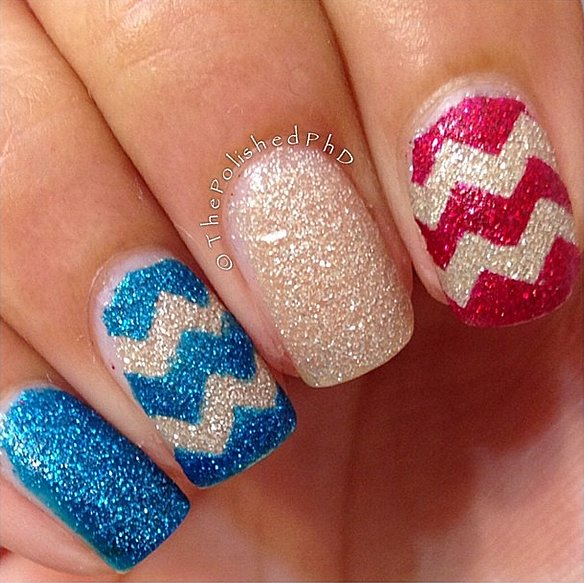 The sandy texture of this manicure makes it perfect for a beach-bound holiday.  Source: Instagram user thepolishedphd