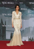 Kate Beckinsale wore an elegant Naeem Khan mermaid gown for the Total Recall Berlin premiere in 2012.