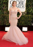 Amy Adams looked every inch the mermaid princess in this dramatic Marchesa gown at the 2013 Golden Globes.