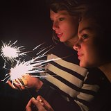 Taylor and Odeya lit up their sparklers together.  Source: Instagram user odeyarush1