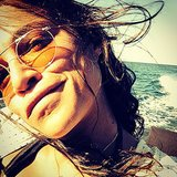 Michelle let her hair fly in the wind on the boat.  Source: Instagram user mrodofficial