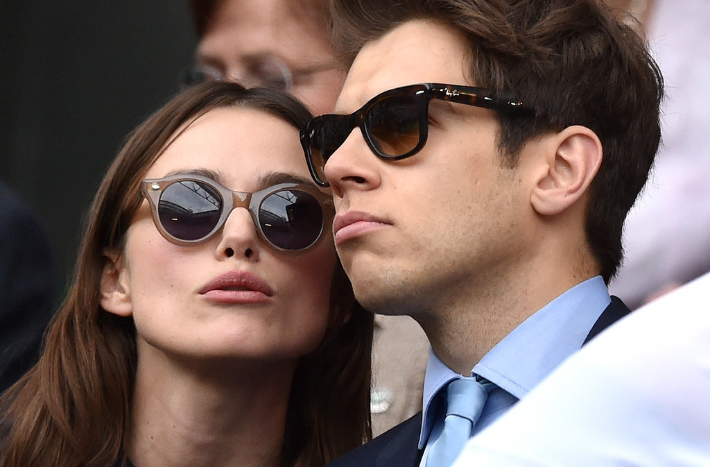 Keira Knightley went to Wimbledon with her husband, James Righton.