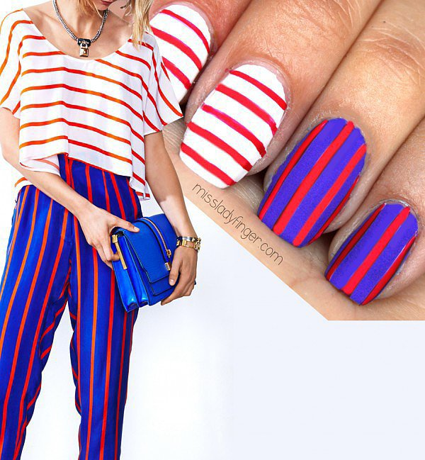 DIY This Patriotic Rebecca Minkoff-Print-Inspired Nail Art