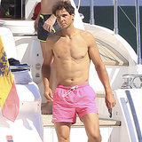 Rafael Nadal Shirtless After Wimbledon 2014