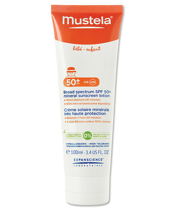 Mustela SPF 50+ Broad Spectrum Mineral Sunscreen Lotion