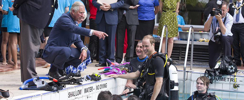 "Prince Charles Jokes About William's ""Buff"" Physique in a Wetsuit"