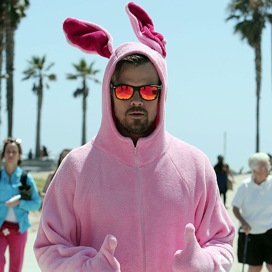 Josh Duhamel Dressed as Pink Bunny at Venice Beach   Picture