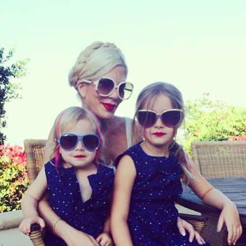 Tori Spelling had a festive Fourth of July with her girls, Stella and Hattie McDermott. Source: Instagram user torispelling