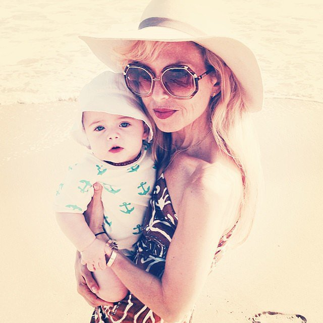 Rachel Zoe spent the Fourth of July on the beach with her baby, Kaius. Source: Instagram user rachelzoe