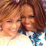 Jennifer Lopez's Selfie With Michelle Obama
