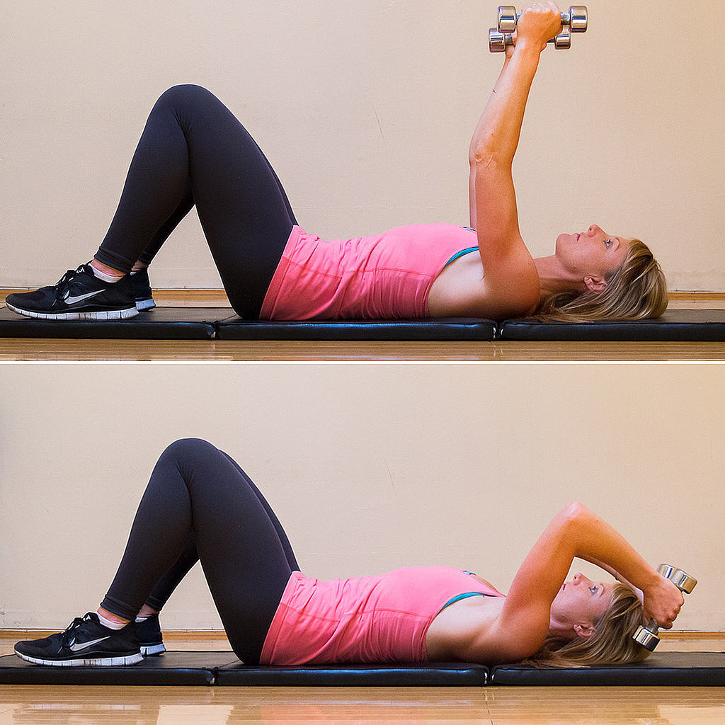Hit the ground to tone up those triceps try this simple lying triceps